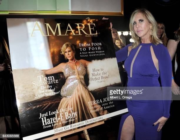 Reality TV star Vicki Gunvalson attends the Amare Magazine's Winter Soiree 3rd Issue Launch held at EnVy Lounge on February 19 2017 in Newport Beach...