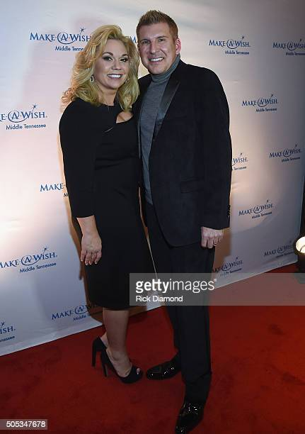 Reality TV stars Julie Chrisley and Todd Chrisley attend the 2016 MakeAWish Stars For Wishes at the Gaylord Opryland Hotel on January 16 2016 in...