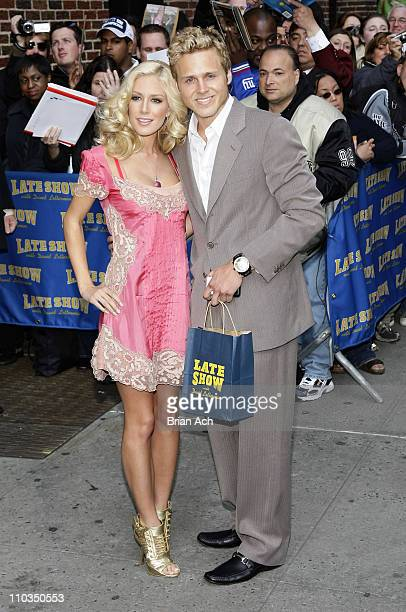 "Reality TV stars Spencer Pratt and Heidi Montag visit ""Late Show with David Letterman"" on April 30, 2008 at the Ed Sullivan Theatre in New York City."