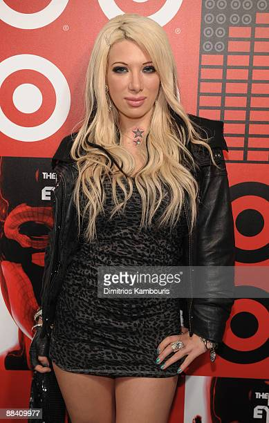 Reality TV start Daisy de la Hoya attends the official Black Eyed Peas album release party hosted by Target at The Griffin on June 10 2009 in New...