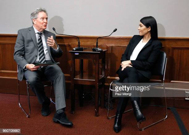 Reality TV-Star Kourtney Kardashian joins Environmental Working Group President Ken Cook at a briefing on Capitol Hill in support of bipartisan...