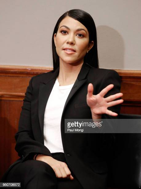 Reality TV-Star Kourtney Kardashian speaks at a briefing in support of bipartisan legislation aimed at reforming how the FDA regulates the personal...