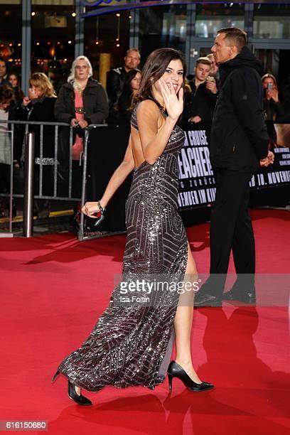 RealityTV actress Tanja Tischewitsch attends the 'Jack Reacher Never Go Back' Berlin Premiere at CineStar Sony Center Potsdamer Platz on October 21...
