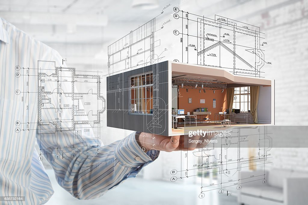 Realize your interior dream . Mixed media : Stock Photo