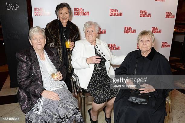 Reallife Dagenham strikers Eileen Pullen Gwen Davis Vera Simem and Sheila Douglass attend an after party following the press night performance of...