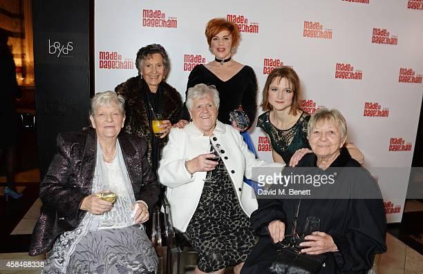 Reallife Dagenham strikers Eileen Pullen Gwen Davis Vera Simem cast members SophieLouise Dann Naomi Frederick and reallife Dagenham striker Sheila...