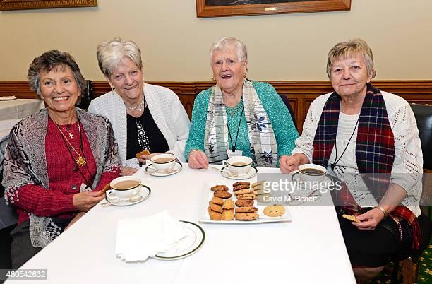 Reallife Dagenham strikers Gwen Davis Eileen Pullen Vera Simem and Sheila Douglass join stars of West End musical Made In Dagenham Grazia Magazine...