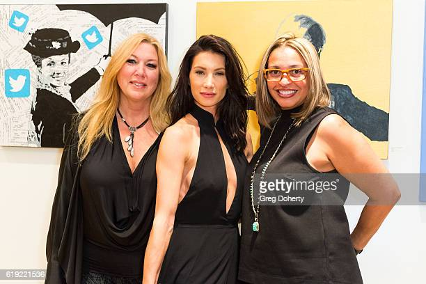 Realtors Missy Echeverria Sonni Pacheco and Actress Kristel Crews attend the Gallery Opening Of 'Social Distortion A Capsule Collection Of Fine Art...