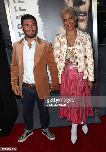 RealtorÊZach Quittman and actress Paula Patton attend the premiere of Codeblack Films' Traffik at ArcLight Hollywood on April 19 2018 in Hollywood...
