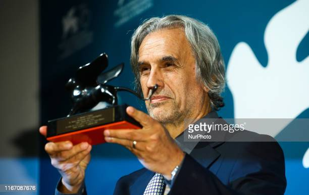 Rean Mazzone poses with the Special Jury Prize Award for quotLa Mafia Non E Piu Quella Di Una Voltaquot at the Winners Photocall during the 76th...