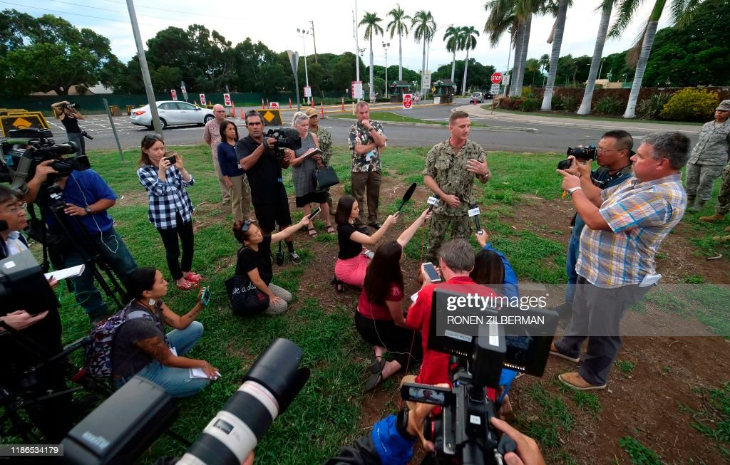 US-SHOOTING-UNREST-PEARLHARBOR : News Photo