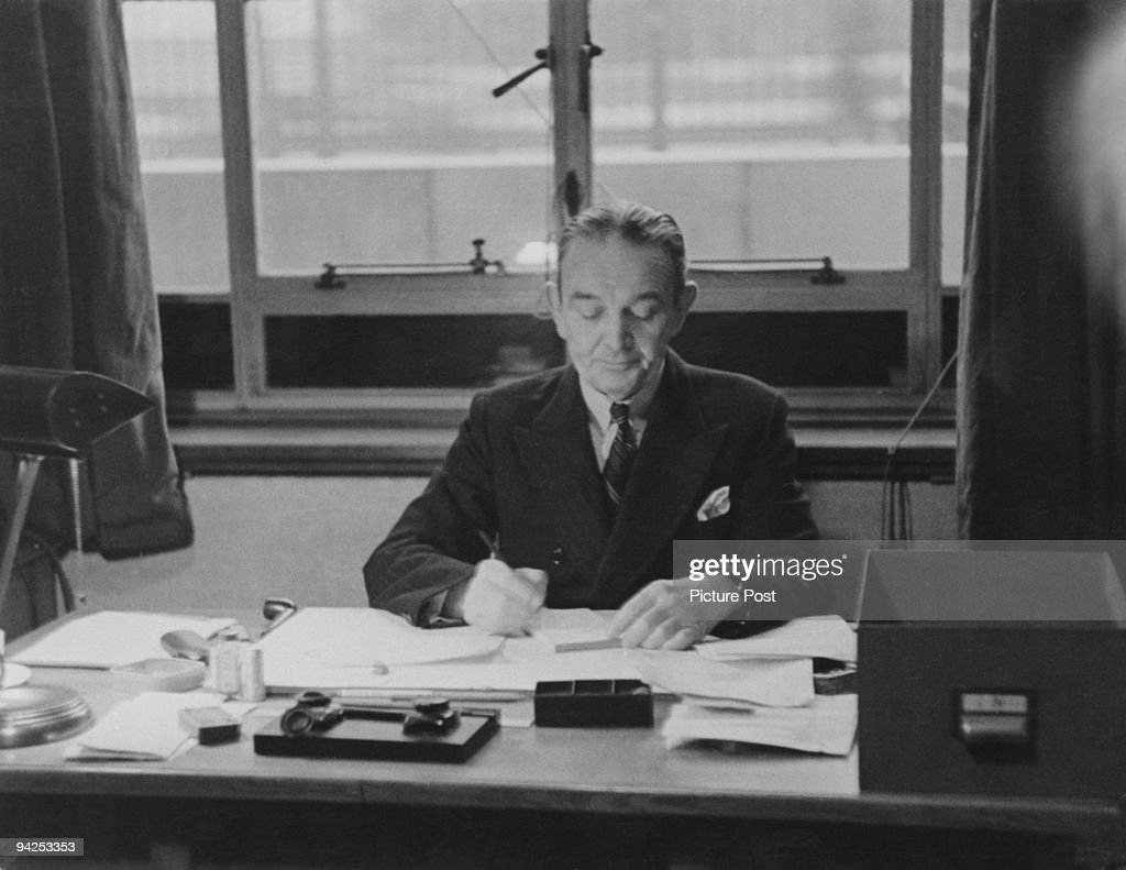 Rear Admiral George Pirie Thomson, one of the deputy directors of censorship during World War II, circa 1939. Original Publication : Picture Post - 606 - Ministry Of Information - unpub.