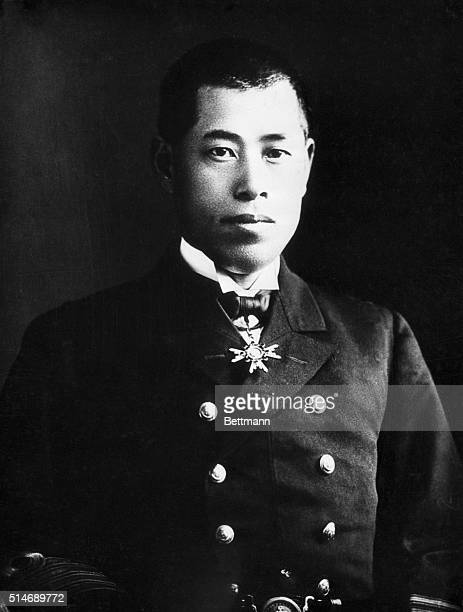 Rear Admiral Isoroku Yamamoto who is Japan's head delegate to the prelimonary Naval Conference which is scheduled to open in London in October He...