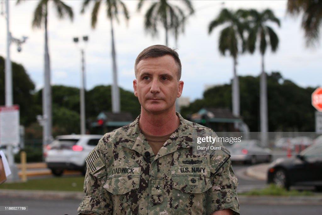 Three People Shot At Pearl Harbor Naval Shipyard Leaves In Hawaii : News Photo
