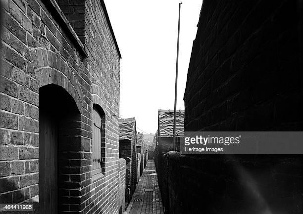 Rear alley of Hammond Street Tunstall StokeonTrent Staffordshire 1960 A typical early 19thcentury alley laid out as part of the planned development...