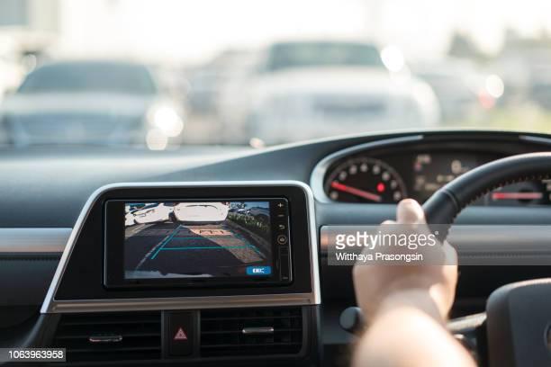Rear area image showing automobile occurrence/Automotive rear area video camera