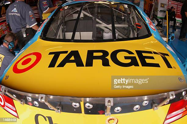 Rear deck on the Cheerios Dodge Intrepid R/T during practice for the EA Sports 500 at Talladega Superspeedway on October 4 2002 in Talladega Alabama