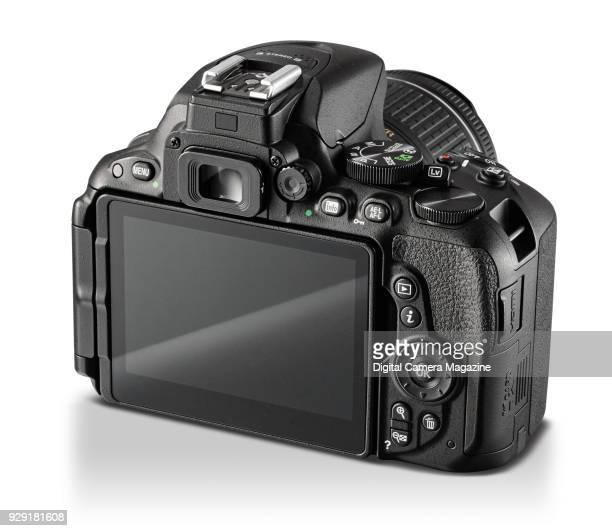 Rear detail of a Nikon D5500 digital SLR camera with a 1855mm AFP VR lens taken on October 17 2016