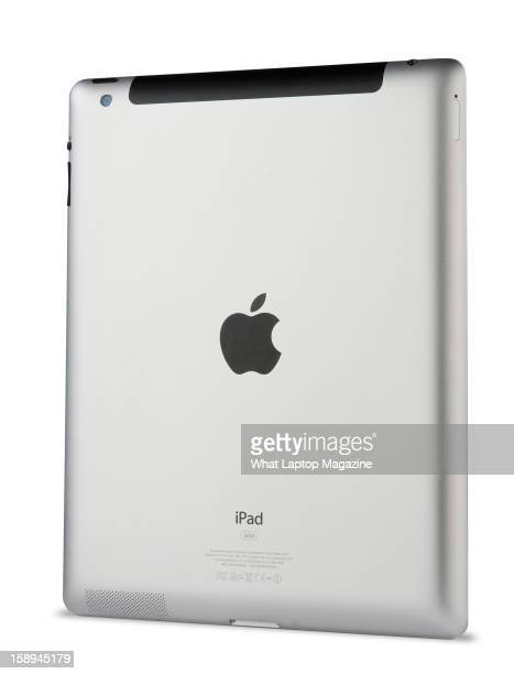 Rear detail of an Apple iPad 3 photographed on white taken on March 16 2012