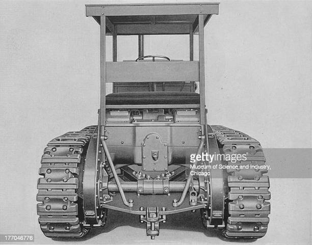 Rear End Construction black and white image of the rear view of the Monarch 75 Tractor revealing its superior construction and ability to handle any...