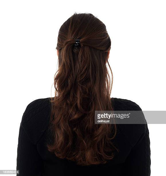 rear - brown hair stock pictures, royalty-free photos & images