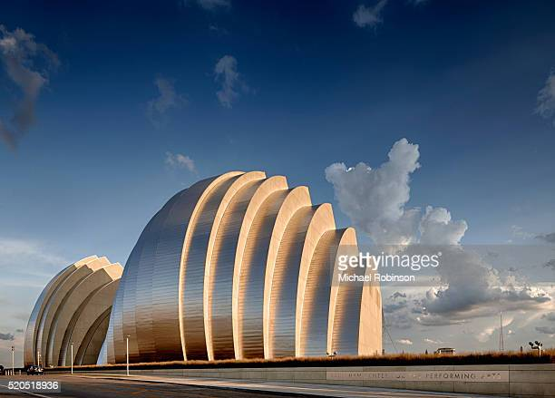 rear shells of the kauffman center for the performing arts - performing arts center stock pictures, royalty-free photos & images