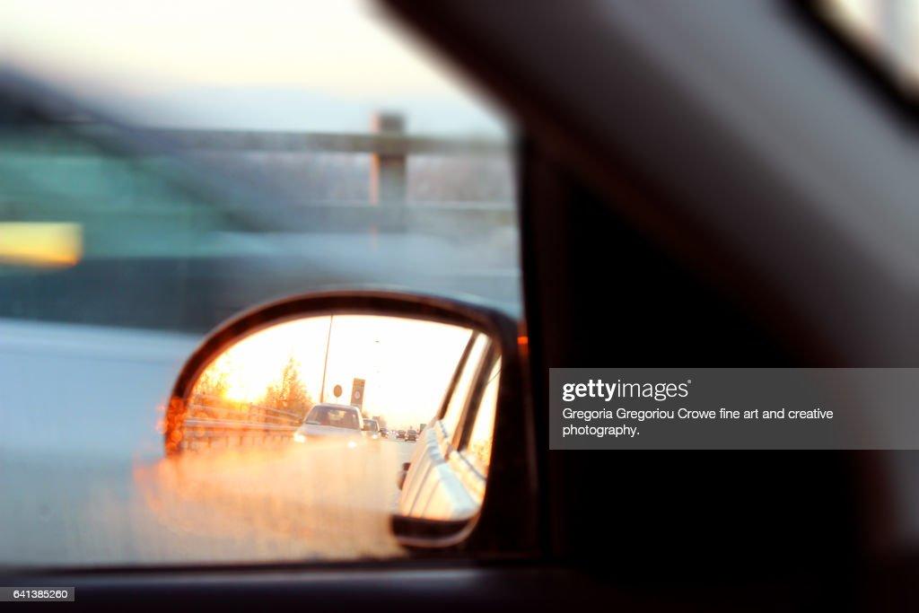 Rear View Mirror : Stock Photo