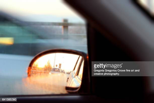 rear view mirror - gregoria gregoriou crowe fine art and creative photography. stock pictures, royalty-free photos & images