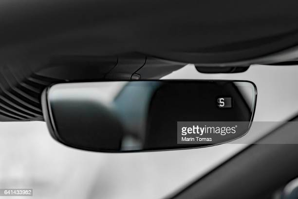 rear view mirror - vehicle mirror stock photos and pictures