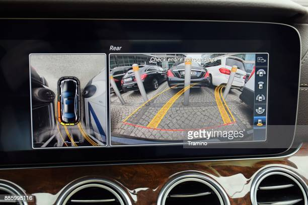 rear view monitor in a private car - sensor stock pictures, royalty-free photos & images