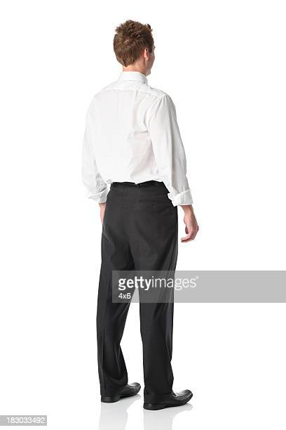 Rear view of a businessman standing