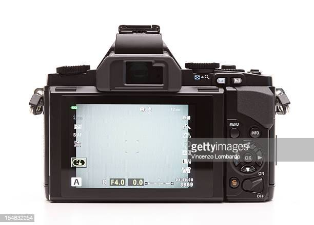 Rear view of a digital camera