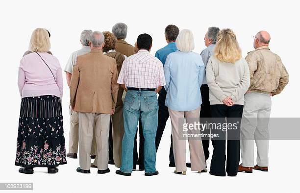 rear view of a group of people - back stock photos and pictures