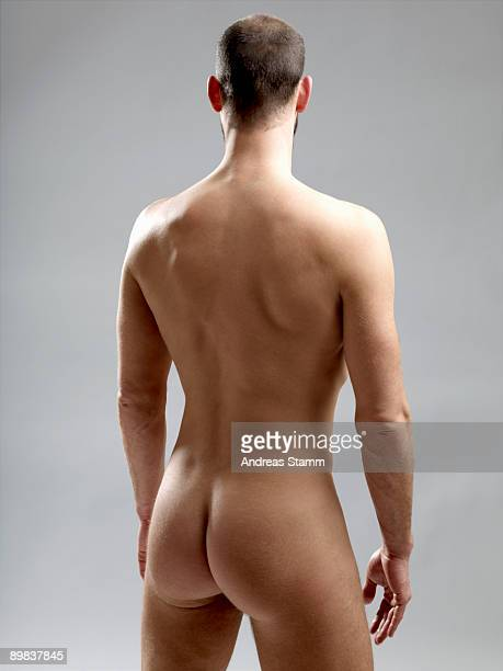 Rear view of a naked man