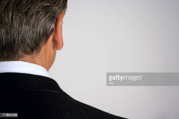 Rear view of a senior businessman