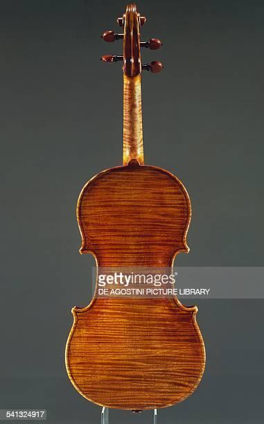 Rear view of a violin by Antonio Stradivari Italy 18th century Cremona Civica Collezione Dei Violini Palazzo Comunale