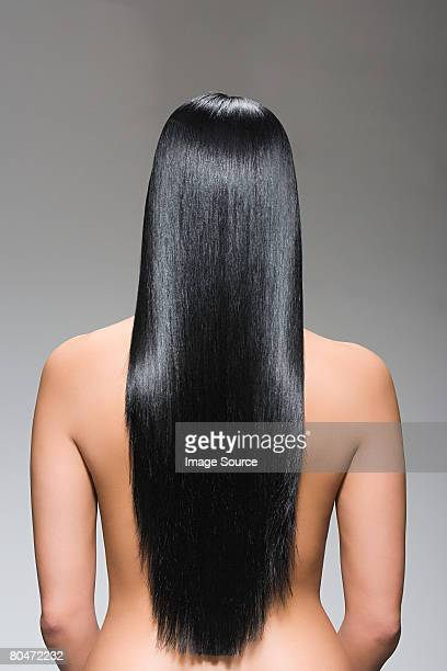 Rear view of a woman with long hair