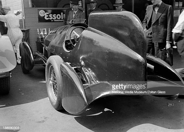 Rear view of Alfa Romeo race car by Zoltan Glass 1934