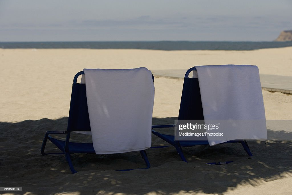 Rear view of beach chairs San Diego California USA  Stock Photo : beach chairs san diego - Cheerinfomania.Com
