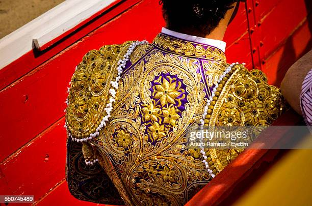 Rear View Of Bullfighter In Uniform