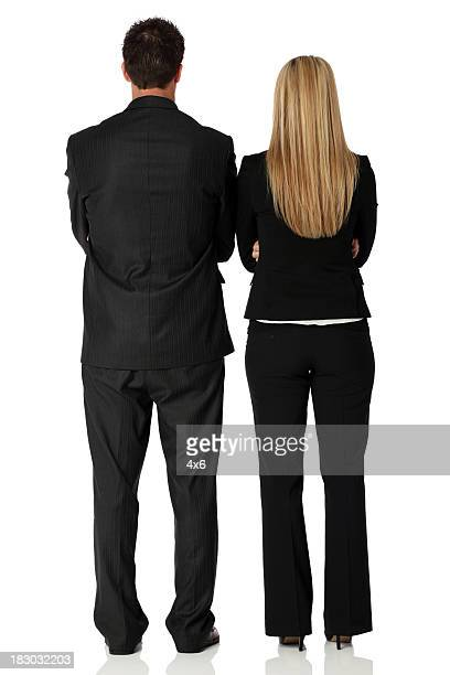 Rear view of business couple