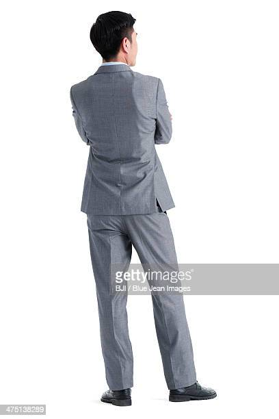 Rear view of businessman