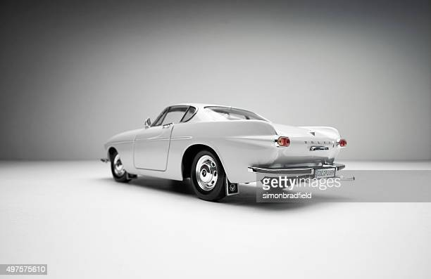 rear view of classic volvo 1800s model car - volvo stock pictures, royalty-free photos & images