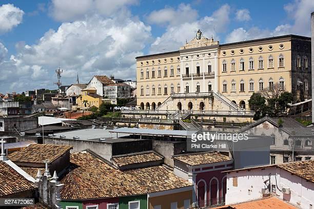Rear view of Covento do Carmo Carmo Convent in the Pelourinho Salvador Bahia Brazil