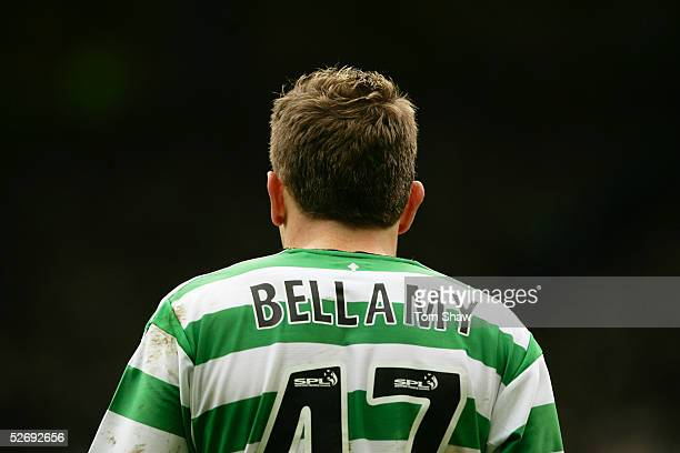 A rear view of Craig Bellamy of Celtic during the Tennents Scottish Cup Semi Final between Hearts and Celtic at Hampden Park on April 10 2005 in...