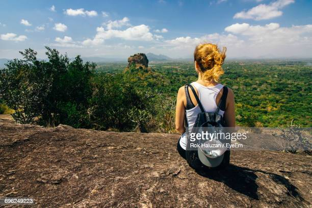 Rear View Of Female Tourist In Sri Lanka