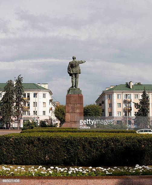 Rear view of Lenin statue, Brest, Belarus