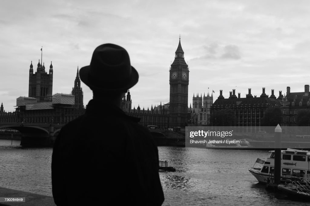 big view photography. Rear View Of Man Looking At Big Ben In City Against Sky Photography P