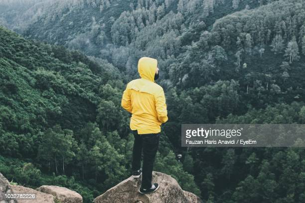rear view of man looking at mountain - bandung stock pictures, royalty-free photos & images