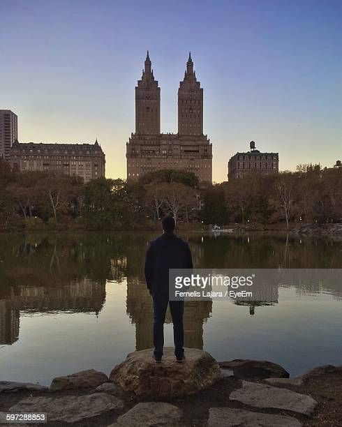 Rear View Of Man Looking At San Remo From Central Park